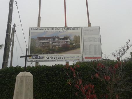 Le Clos De La Saffrenière - Panneau de vente et de chantier