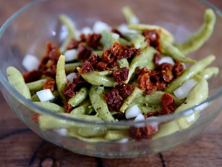 Bohnensalat mit Senfdressing