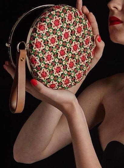 Circular Bamboo Clutch Bag