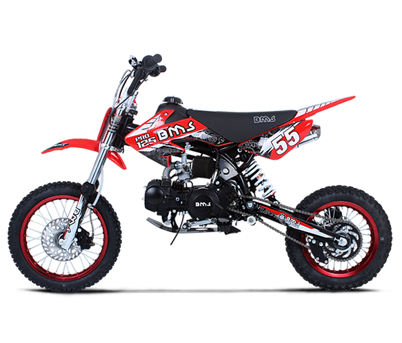 Bms MotorSports Pro Premium 125 Red Color