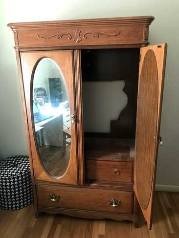 TV Cabinet Turned Armoire - Before