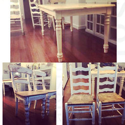 Client Dining Set Before