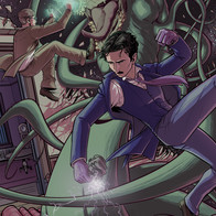 Herald: Lovecraft and Tesla fanart