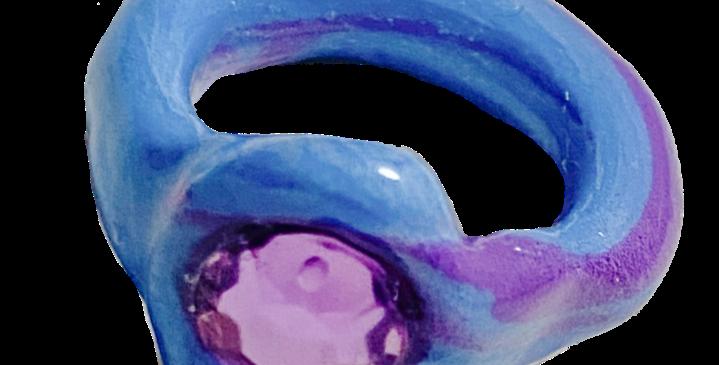 blue tie dye OG ring