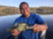 Tah catches a Black Crappie - Bob's Go Fish Service