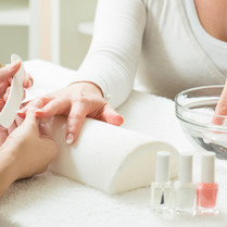 French Paraffin Manicure - $45