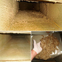 Cleaning a dust and grease contaminated exhaust duct