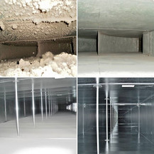 Dust removal in an exhaust duct
