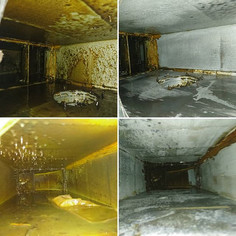 Grease removal in the exhaust duct