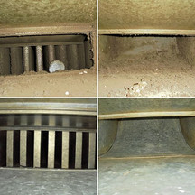 Dust removal in an exhaust duct + Muffler cleaned
