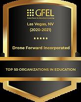 Drone Forward Inc. Top 50 organizations in education award.