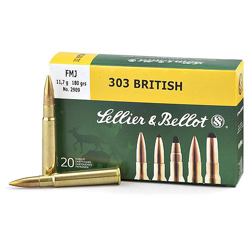 S&B 303 British 180Gr FMJ (100rds)