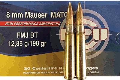 PPU Match 8mm Mauser 198Gn FMJ-BT (100Rounds)