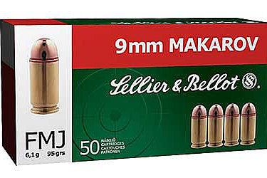 S&B 9mm Makarov 95Gr FMJ (100Rds)