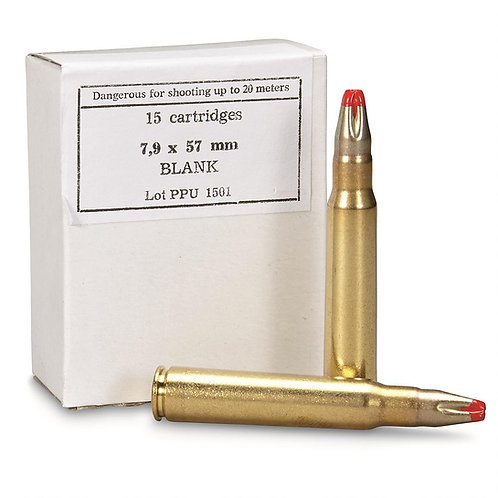 PPU 8mm Mauser Blank (100 Rounds)