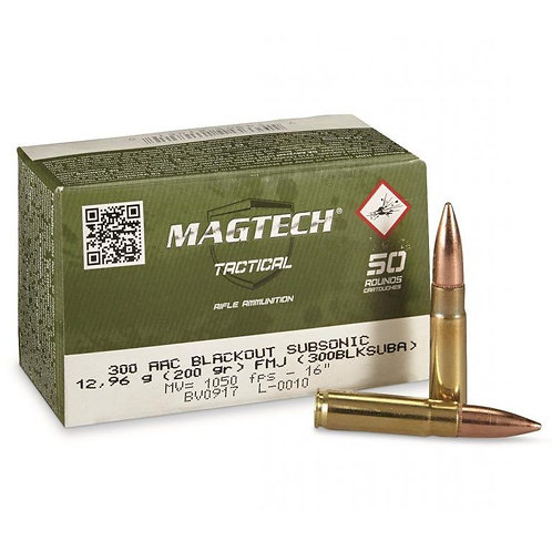 Magtech .300 Blackout Subsonic 200Gn FMJ (100 Rounds)