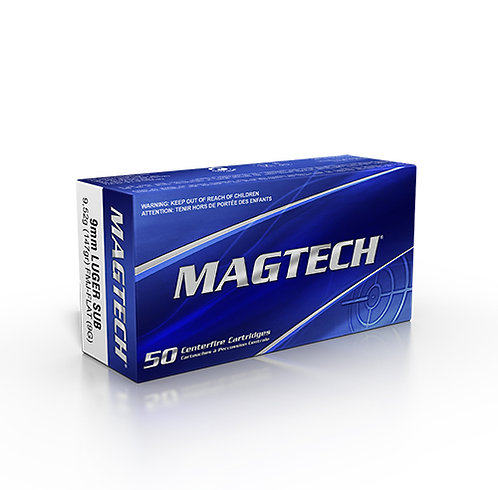 Magtech Subsonic 9x19 147Gn FMJ (100 Rounds)