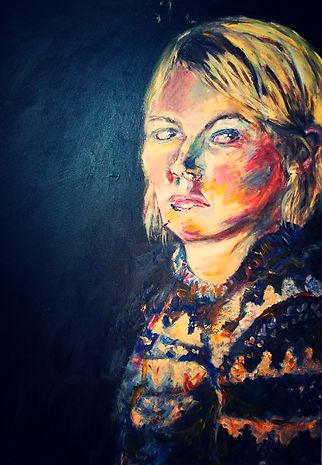 self portrait- acrylic on canvas