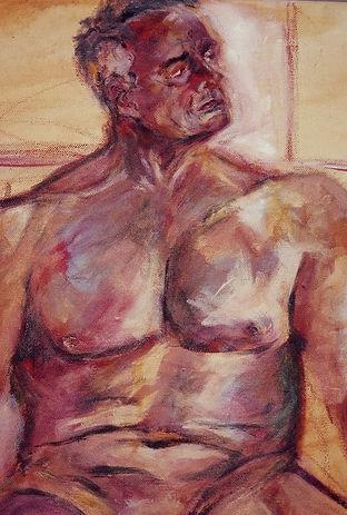 study of a nude, acrylic on canvas