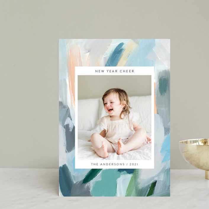 """""""Paint Palette Cheer"""" New Year Photo Cards exclusive to Minted"""