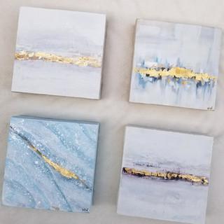 Gold Leaf Mini Paintings