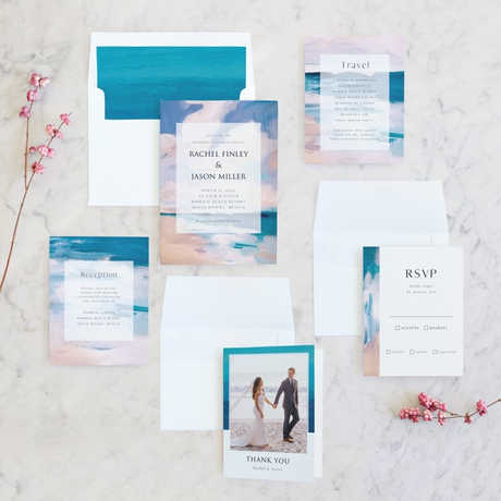 """""""Sand & Sun"""" Wedding Invitation Suite exclusive to Minted"""