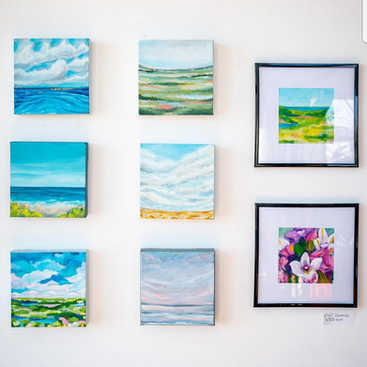 """6"""" x 6"""" Abstract Landscapes"""