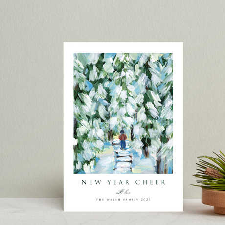 """""""Peaceful Winter Walk"""" Holiday Cards exclusive to Minted"""
