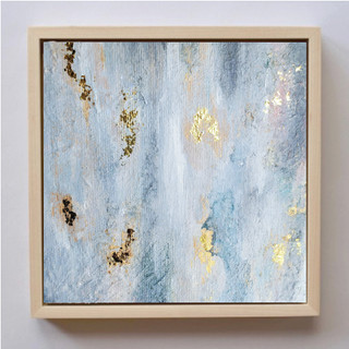 Neutral Gold Leaf Painting