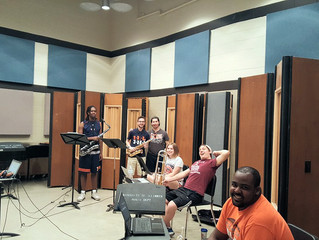 Doing a little recording!