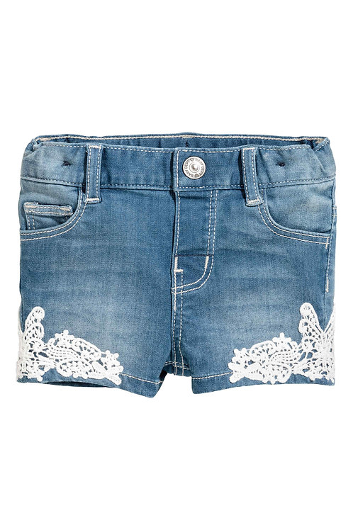 Water Soluble Lace patch Used in Denim Short
