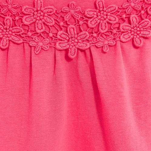 Top with Water Soluble Cotton Lace Trim