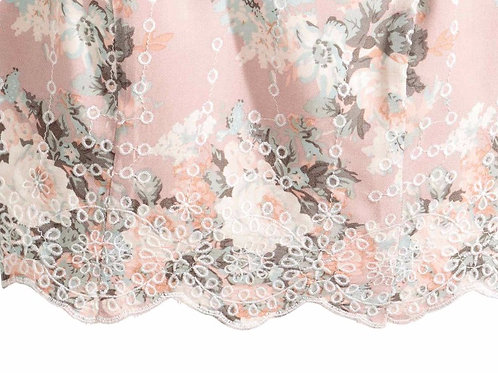 Scalloped Embroidery Used in Top