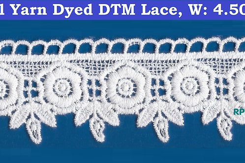 Floral Lace in White Cotton Yarn
