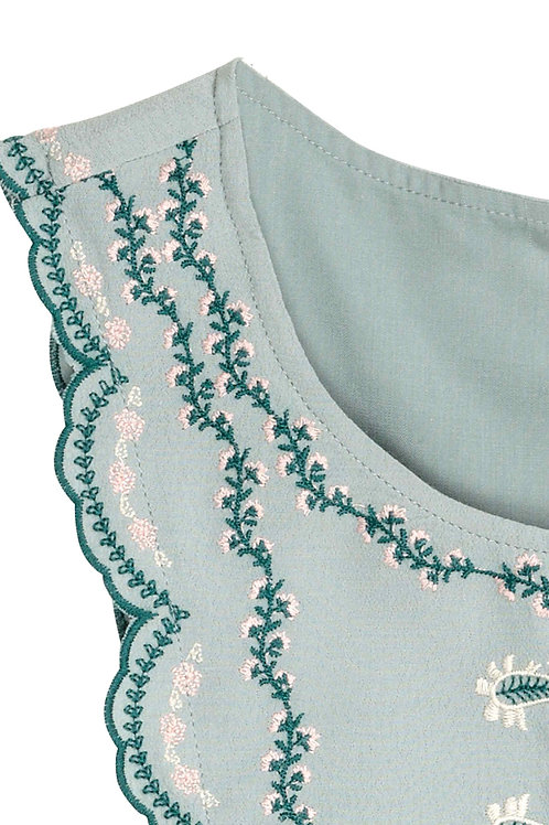 Scalloped Embroidered Lace Used in Blouse