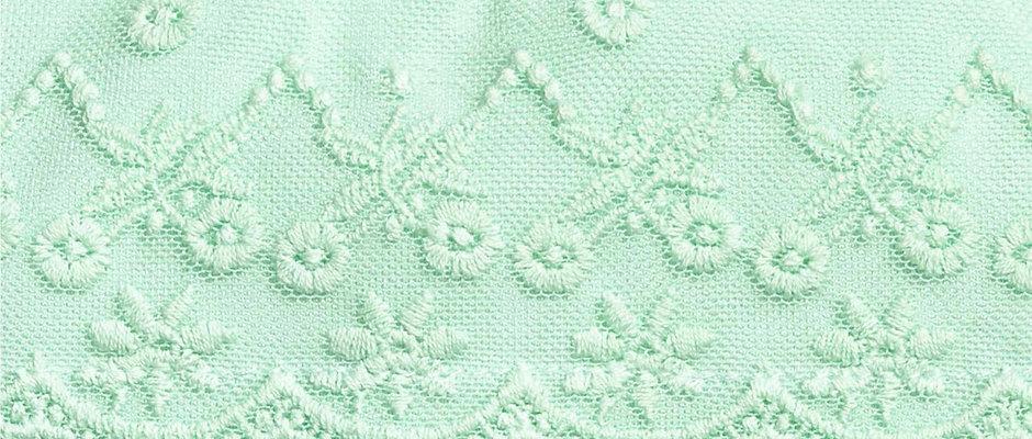 Mesh lace yoke used in Bodysuit