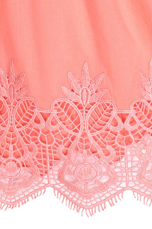Water Soluble Lace used in top