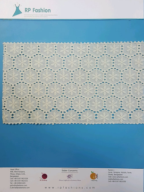 Eyelet embroidery lace fabric