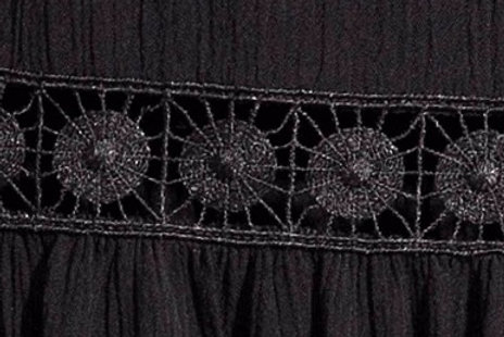 Water Soluble Lace used in Blouse bands