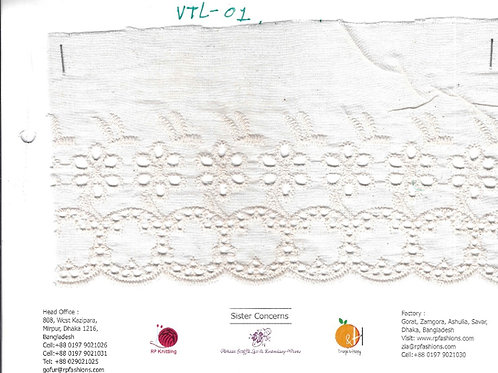 Narrow Eyelet Chicken Embroidery Lace