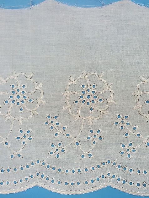 Border Scalloped Eyelet Embroidery made in lace factory in bangladesh