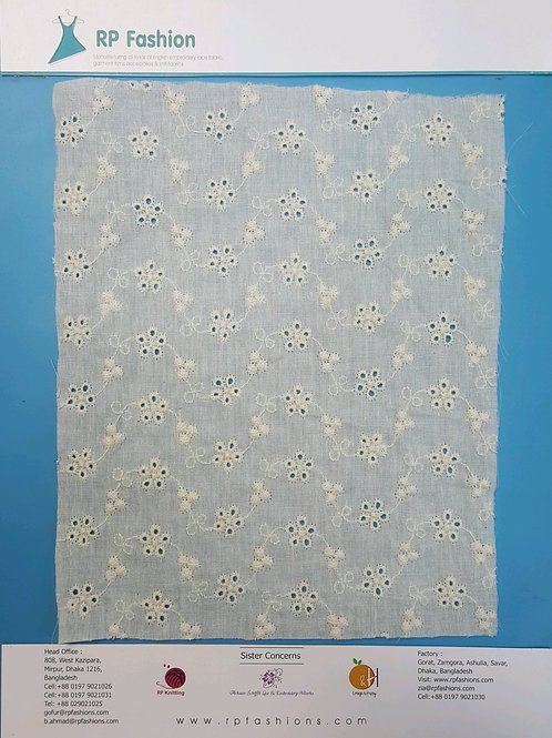 English embroidery lace fabric