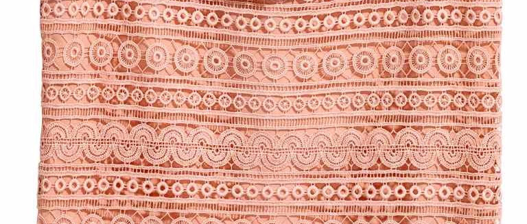 Water Soluble Polyester Lace used as Top