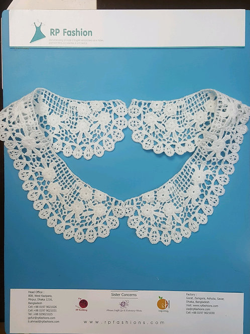 Lace as Collar in Polyester