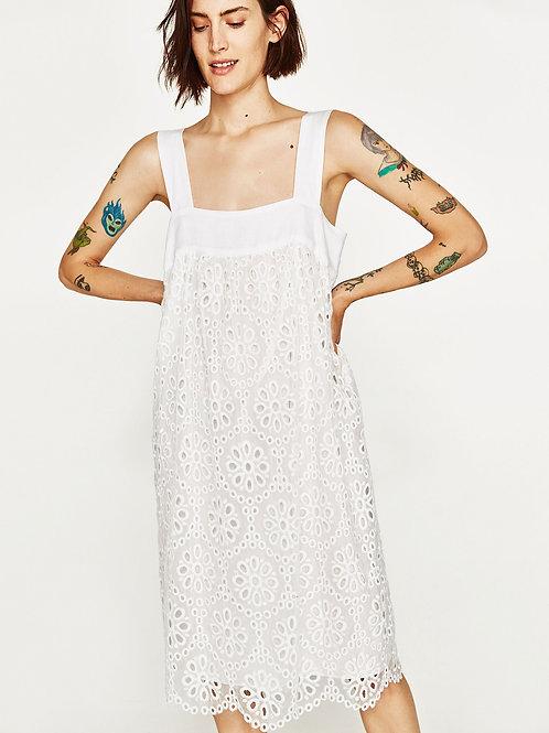 English Embroidered Eyelet Midi Dress