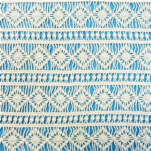 Cotton water soluble lace fabric