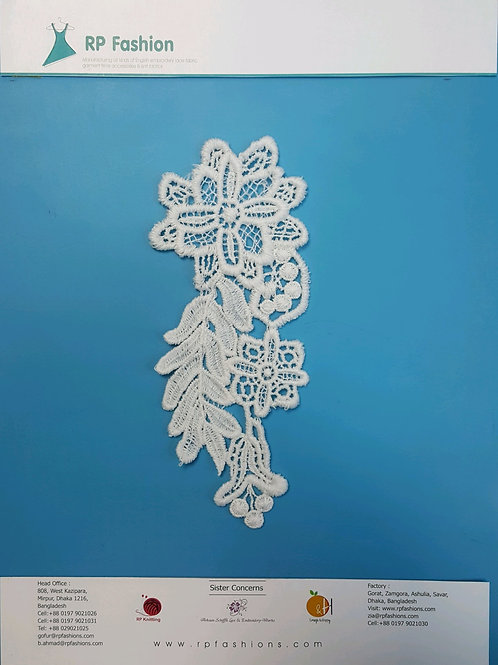 Patch lace in polyester