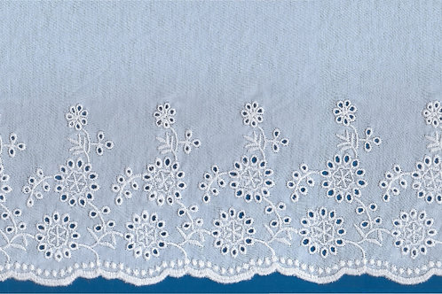Embroidery Lace on Single Jersey Knit Fa