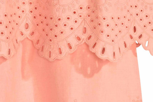 Scalloped Embroidered Lace Used as hem in Blouse