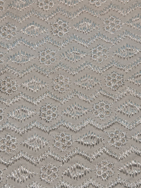 Metallic Embroidery made in lace factory in bangladesh
